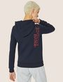 ARMANI EXCHANGE POSITIVE/NEGATIVE LOGO ZIP-UP HOODIE Sweatshirt Woman e
