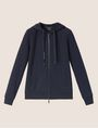 ARMANI EXCHANGE POSITIVE/NEGATIVE LOGO ZIP-UP HOODIE Sweatshirt Woman r
