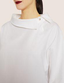 ARMANI EXCHANGE ASYMMETRICAL COLLAR BLOUSE S/L Knit Top [*** pickupInStoreShipping_info ***] b