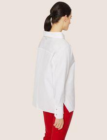 ARMANI EXCHANGE ASYMMETRICAL COLLAR BLOUSE S/L Knit Top Woman e