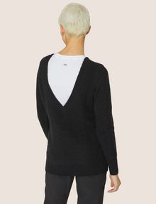 ARMANI EXCHANGE V-BACK MOHAIR-BLEND SWEATER Crew Neck Woman e