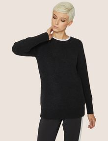 ARMANI EXCHANGE V-BACK MOHAIR-BLEND SWEATER Crew Neck Woman f