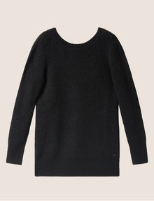 ARMANI EXCHANGE V-BACK MOHAIR-BLEND SWEATER Crew Neck Woman r