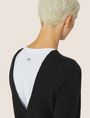 ARMANI EXCHANGE V-BACK MOHAIR-BLEND SWEATER Crew Neck Woman b