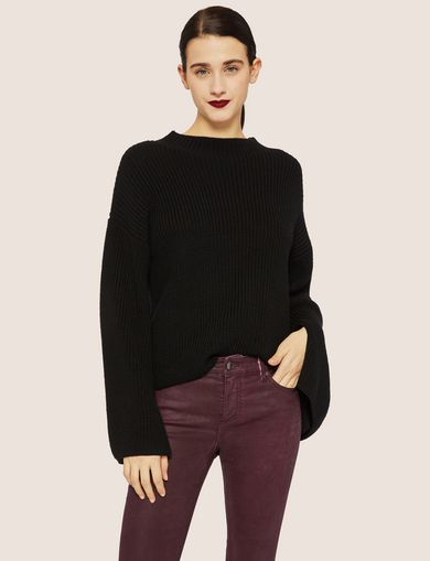 BELL-SLEEVE WOOL-BLEND SWEATER