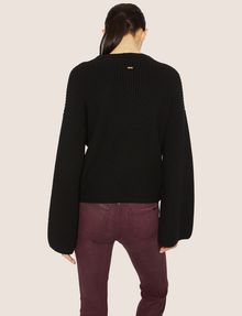 ARMANI EXCHANGE BELL-SLEEVE WOOL-BLEND SWEATER Turtleneck [*** pickupInStoreShipping_info ***] e