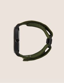 ARMANI EXCHANGE ARMY GREEN FABRIC BAND WATCH Fashion Watch [*** pickupInStoreShippingNotGuaranteed_info ***] a