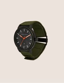 ARMANI EXCHANGE ARMY GREEN FABRIC BAND WATCH Fashion Watch [*** pickupInStoreShippingNotGuaranteed_info ***] d