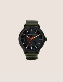 ARMANI EXCHANGE ARMY GREEN FABRIC BAND WATCH Fashion Watch [*** pickupInStoreShippingNotGuaranteed_info ***] f