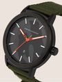 ARMANI EXCHANGE ARMY GREEN FABRIC BAND WATCH Fashion Watch [*** pickupInStoreShippingNotGuaranteed_info ***] r