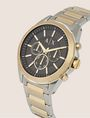 ARMANI EXCHANGE Chronograph mit zweifarbigem Stahlarmband Fashion Watch [*** pickupInStoreShippingNotGuaranteed_info ***] r