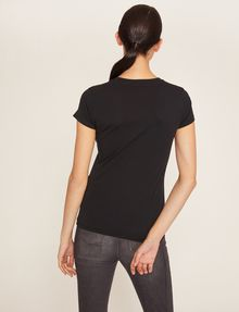 ARMANI EXCHANGE STUDDED GLITTER LOGO CREW Logo T-shirt Woman e