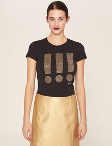 ARMANI EXCHANGE STUDDED EXCLAMATION CREW Graphic T-shirt Woman f