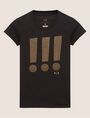 ARMANI EXCHANGE STUDDED EXCLAMATION CREW Graphic T-shirt Woman r