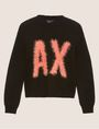 ARMANI EXCHANGE FURRY LOGO WOOL-BLEND SWEATER Crew Neck [*** pickupInStoreShipping_info ***] r