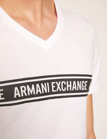 ARMANI EXCHANGE VネックTシャツ ロゴTシャツ メンズ b