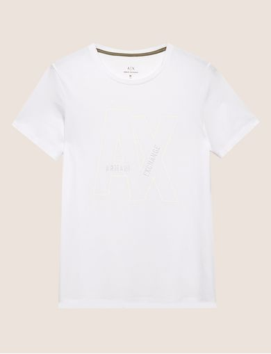 SLIM-FIT EMBROIDERED OVERLAP CREW