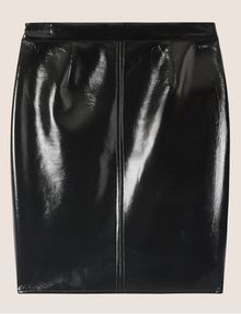 ARMANI EXCHANGE SEAMED PATENT PENCIL SKIRT Midi Skirt [*** pickupInStoreShipping_info ***] r