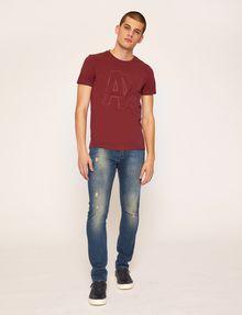 ARMANI EXCHANGE SLIM-FIT EMBROIDERED OVERLAP CREW Logo T-shirt Man d