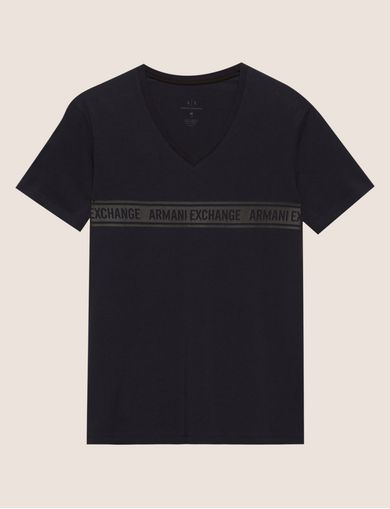 SLIM-FIT LOGO BAND V-NECK