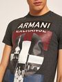 ARMANI EXCHANGE SLIM-FIT EMPIRE STATE LOGO CREW Graphic T-shirt [*** pickupInStoreShippingNotGuaranteed_info ***] b