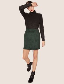 ARMANI EXCHANGE ASYMMETRICAL FAUX-SUEDE SKIRT Mini skirt [*** pickupInStoreShipping_info ***] a