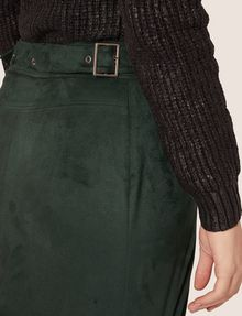 ARMANI EXCHANGE ASYMMETRICAL FAUX-SUEDE SKIRT Mini skirt [*** pickupInStoreShipping_info ***] b