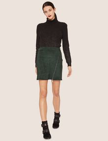 ARMANI EXCHANGE ASYMMETRICAL FAUX-SUEDE SKIRT Mini skirt [*** pickupInStoreShipping_info ***] d