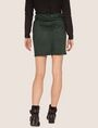 ARMANI EXCHANGE ASYMMETRICAL FAUX-SUEDE SKIRT Mini skirt [*** pickupInStoreShipping_info ***] e