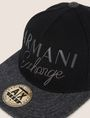 ARMANI EXCHANGE EMBROIDERED SCRIPT LOGO HAT Hat [*** pickupInStoreShippingNotGuaranteed_info ***] d