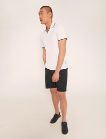 ARMANI EXCHANGE TIPPED JOHNNY COLLAR POLO SHORT SLEEVES POLO [*** pickupInStoreShippingNotGuaranteed_info ***] a