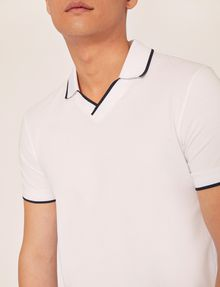 ARMANI EXCHANGE TIPPED JOHNNY COLLAR POLO SHORT SLEEVES POLO [*** pickupInStoreShippingNotGuaranteed_info ***] b