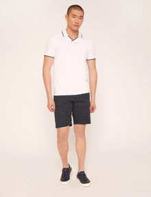 ARMANI EXCHANGE TIPPED JOHNNY COLLAR POLO SHORT SLEEVES POLO [*** pickupInStoreShippingNotGuaranteed_info ***] d