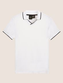 ARMANI EXCHANGE TIPPED JOHNNY COLLAR POLO SHORT SLEEVES POLO [*** pickupInStoreShippingNotGuaranteed_info ***] r