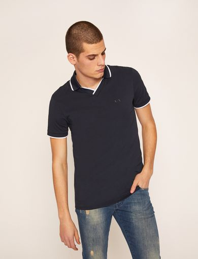 TIPPED JOHNNY COLLAR POLO