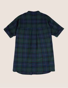 ARMANI EXCHANGE GIRLS PLEAT-BACK PLAID TUNIC S/L Knit Top Woman r