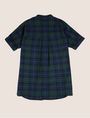 ARMANI EXCHANGE GIRLS PLEAT-BACK PLAID TUNIC S/L Knit Top [*** pickupInStoreShipping_info ***] r