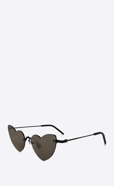 SAINT LAURENT NEW WAVE Woman NEW WAVE LOULOU 254 heart black sunglasses b_V4
