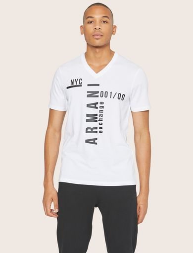 NYC PLACED LOGO V-NECK