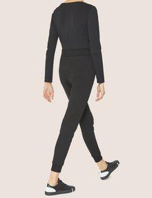 ARMANI EXCHANGE METALLIC SCRIPT LOGO JOGGER Fleece Trouser Woman e