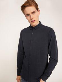 ARMANI EXCHANGE SLIM-FIT CHANNEL QUILTED SHIRT Plain Shirt Man a