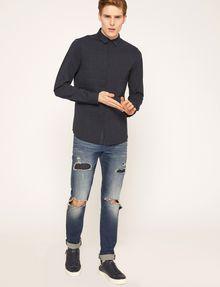 ARMANI EXCHANGE SLIM-FIT CHANNEL QUILTED SHIRT Plain Shirt Man d