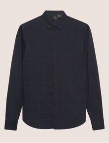 ARMANI EXCHANGE SLIM-FIT CHANNEL QUILTED SHIRT Plain Shirt Man r