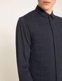 ARMANI EXCHANGE SLIM-FIT CHANNEL QUILTED SHIRT Plain Shirt Man b