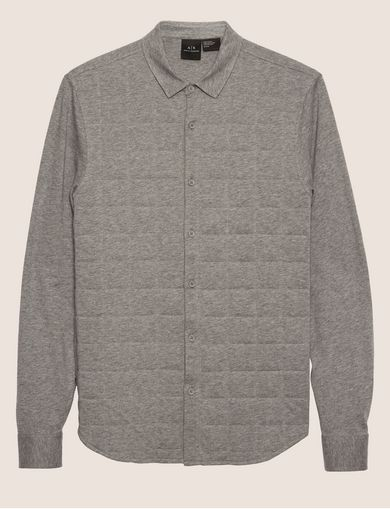 SLIM-FIT CHANNEL QUILTED SHIRT