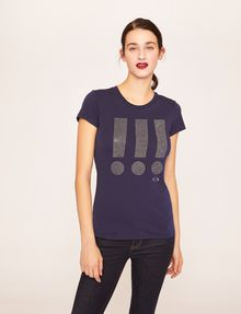 ARMANI EXCHANGE STUDDED EXCLAMATION CREW Graphic T-shirt [*** pickupInStoreShipping_info ***] f