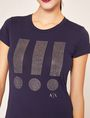 ARMANI EXCHANGE STUDDED EXCLAMATION CREW Graphic T-shirt Woman b