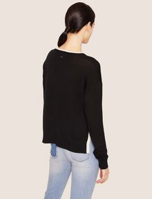 ARMANI EXCHANGE SPLIT-SIDE WOOL-BLEND SWEATER Crew Neck [*** pickupInStoreShipping_info ***] e