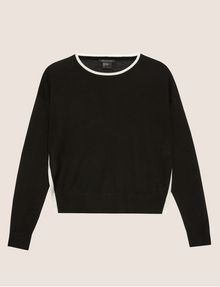 ARMANI EXCHANGE SPLIT-SIDE WOOL-BLEND SWEATER Crew Neck [*** pickupInStoreShipping_info ***] r