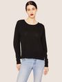 ARMANI EXCHANGE SPLIT-SIDE WOOL-BLEND SWEATER Crew Neck [*** pickupInStoreShipping_info ***] f